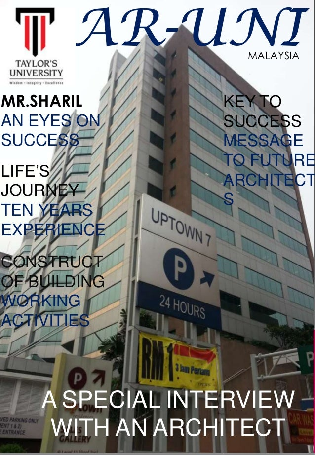 AR-UNI MR.SHARIL AN EYES ON SUCCESS LIFE'S JOURNEY TEN YEARS EXPERIENCE CONSTRUCT OF BUILDING WORKING ACTIVITIES A SPECIAL...