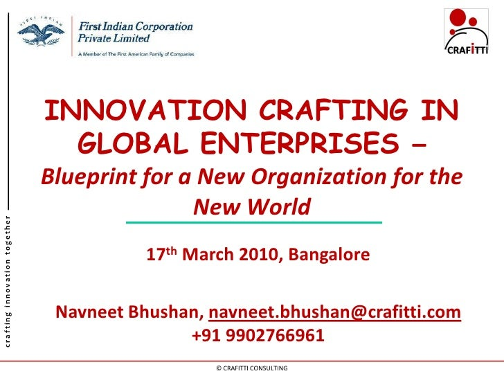 INNOVATION CRAFTING IN                                  GLOBAL ENTERPRISES –                                Blueprint for ...