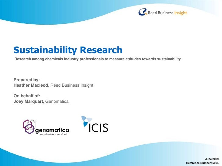 ICIS Genomatica Sustainability Research