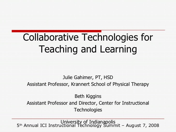Julie Gahimer, PT, HSD Assistant Professor, Krannert School of Physical Therapy Beth Kiggins Assistant Professor and Direc...