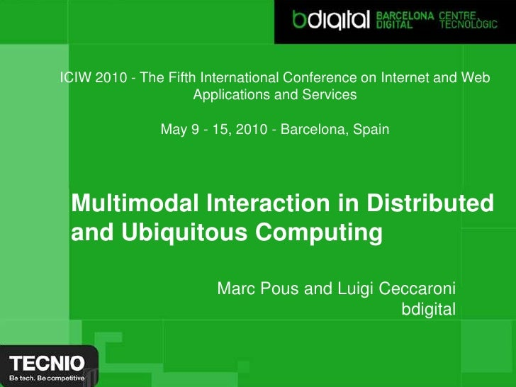 ICIW 2010 - The Fifth International Conference on Internet and Web Applications and Services<br />May 9 - 15, 2010 - Barce...