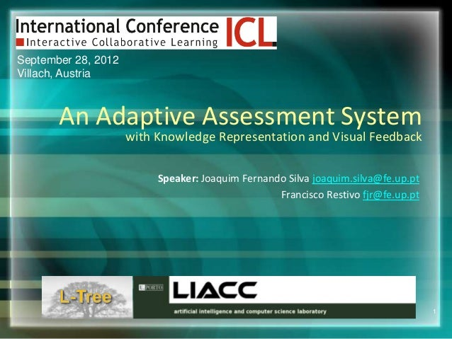 September 28, 2012Villach, Austria       An Adaptive Assessment System                     with Knowledge Representation a...