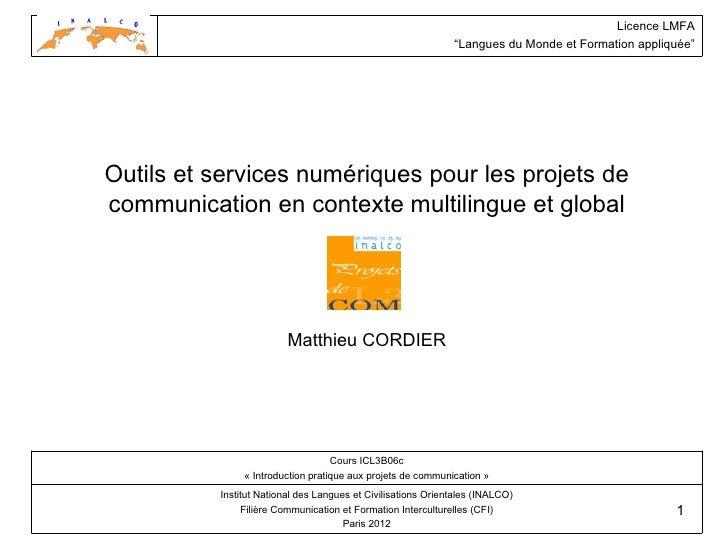 """Licence LMFA                                                              """"Langues du Monde et Formation appliquée""""Outils ..."""