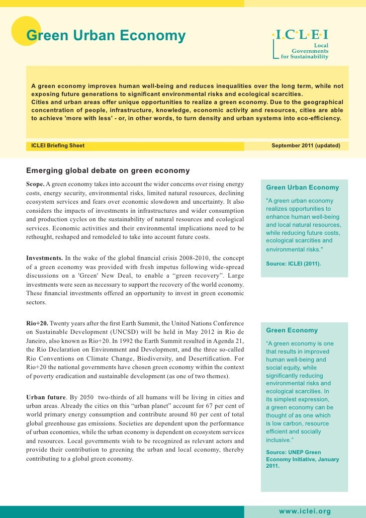 ICLEI Green Economy Policy Brief
