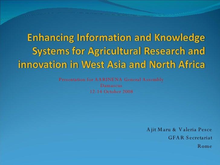 Enhancing Information & Knowledge in WANA