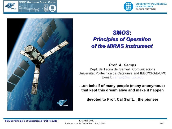 MIRAS: the instrument aboard SMOS