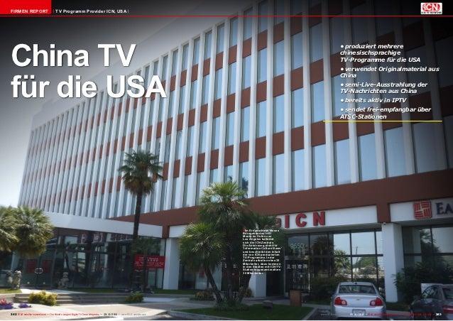 FIRMEN REPORT                          TV Programm Provider ICN, USAChina TV                                              ...
