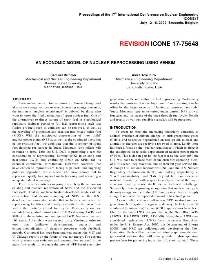 ICONE-17, Paper75648, ANS Award Version
