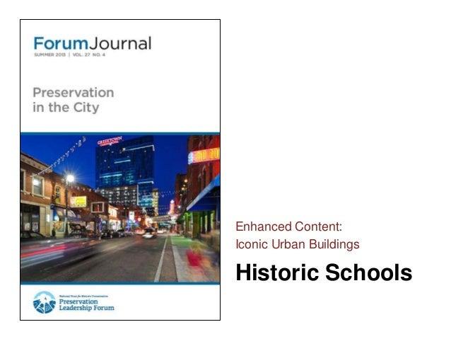 Forum Journal (Summer 2013) Iconic Urban Buildings - Schools