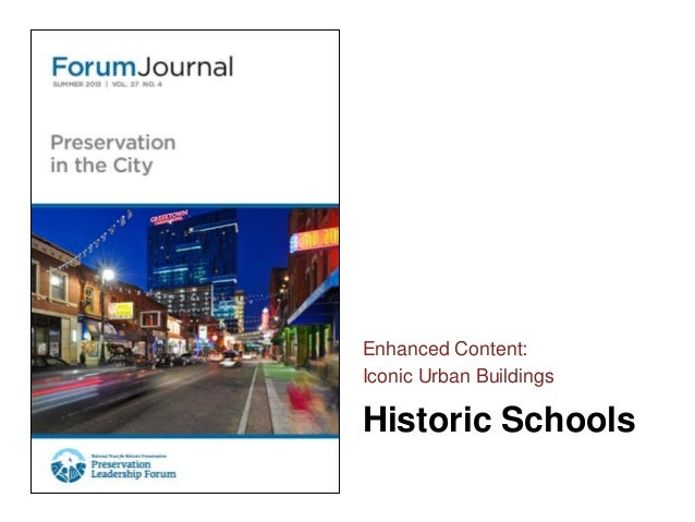 Forum Journal (Summer 2013) Iconic Urban Buildings - Schools