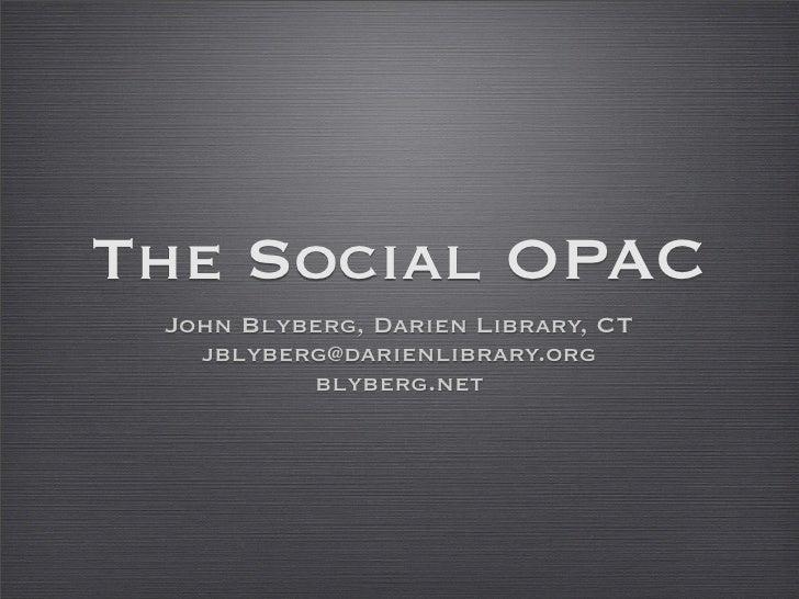 SOPAC: The Social OPAC