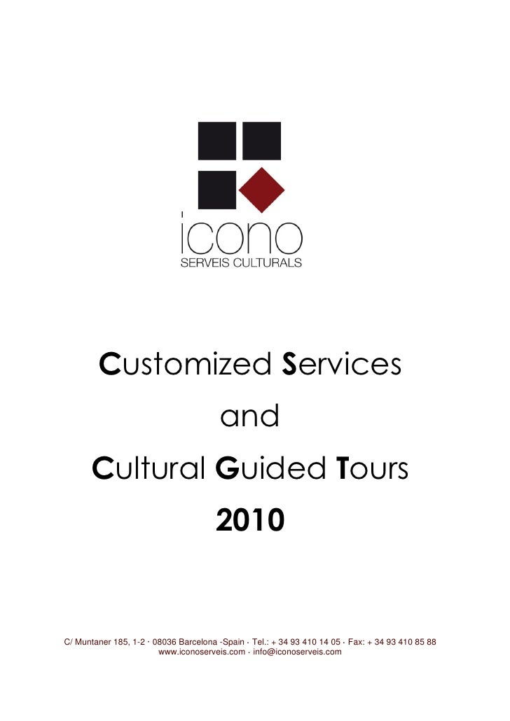 Catalogue Cultural Guided Tours 2010