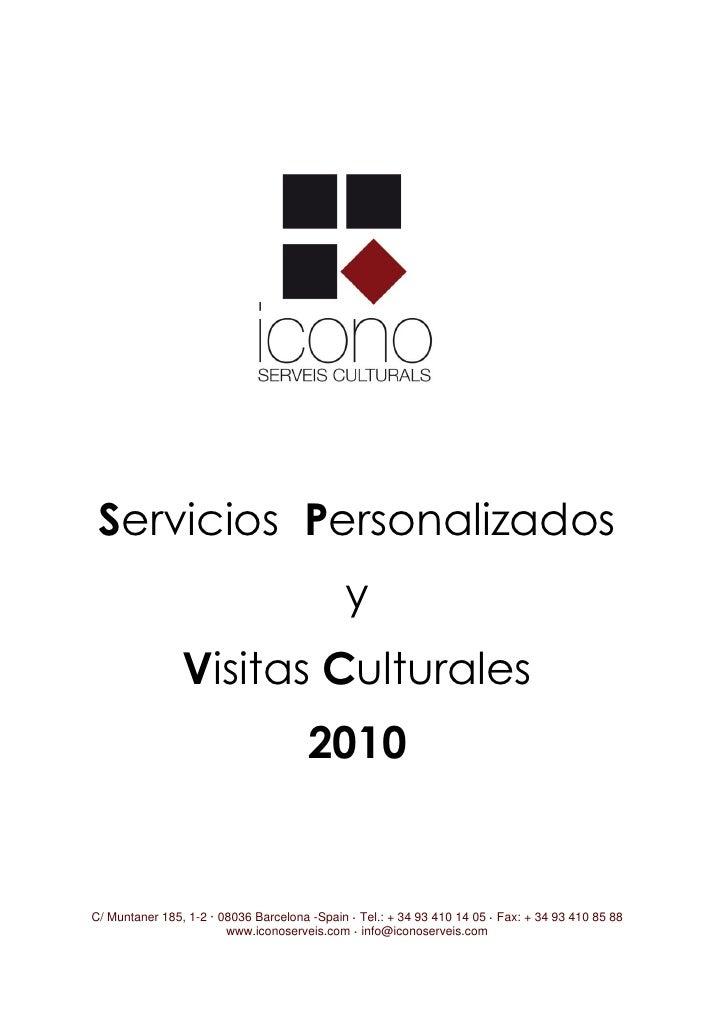 Catálogo de Rutas y Visitas Culturales 2010