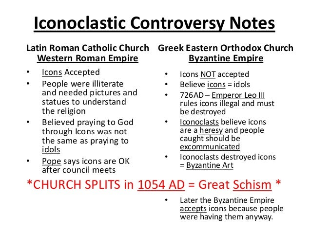 the iconoclastic controversy essay While you may use your text and any other source for information, the essay must be entirely in your own words discuss the iconoclastic controversy.