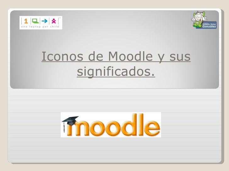Iconos de Moodle y sus     significados.