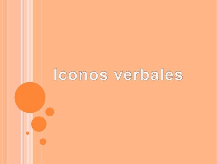Iconos verbales
