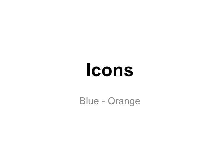 Icons Blue - Orange