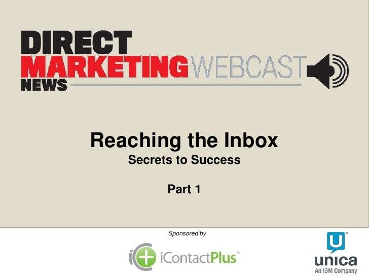 iContactPlus DM News deliverability webinar
