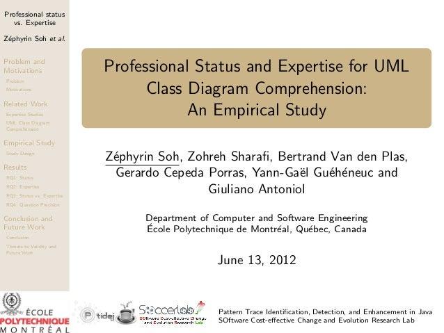 Professional status  vs. ExpertiseZ´phyrin Soh et al. eProblem andMotivations                 Professional Status and Expe...