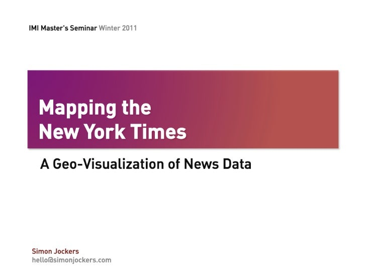 Mapping the New York Times