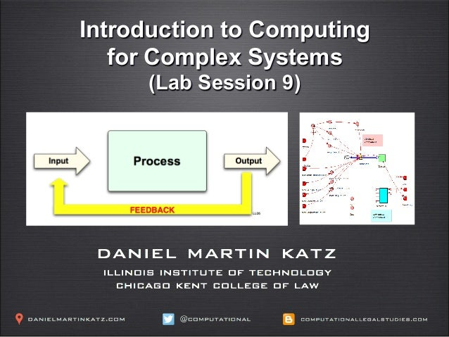 ICPSR - Complex Systems Models in the Social Sciences - Lab Session 9 - Professor Daniel Martin Katz