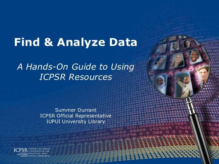 ICPSR Find & Analyze Data