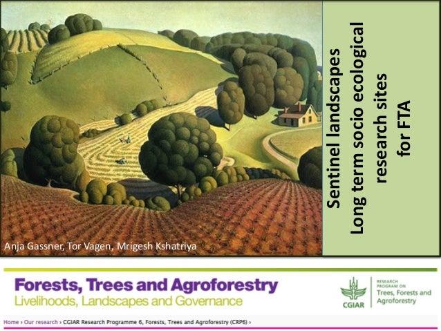 Anja Gassner, Tor Vagen, Mrigesh Kshatriya  Sentinel landscapes Long term socio ecological research sites for FTA