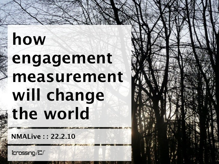 how engagement measurement will change the world NMALive : : 22.2.10