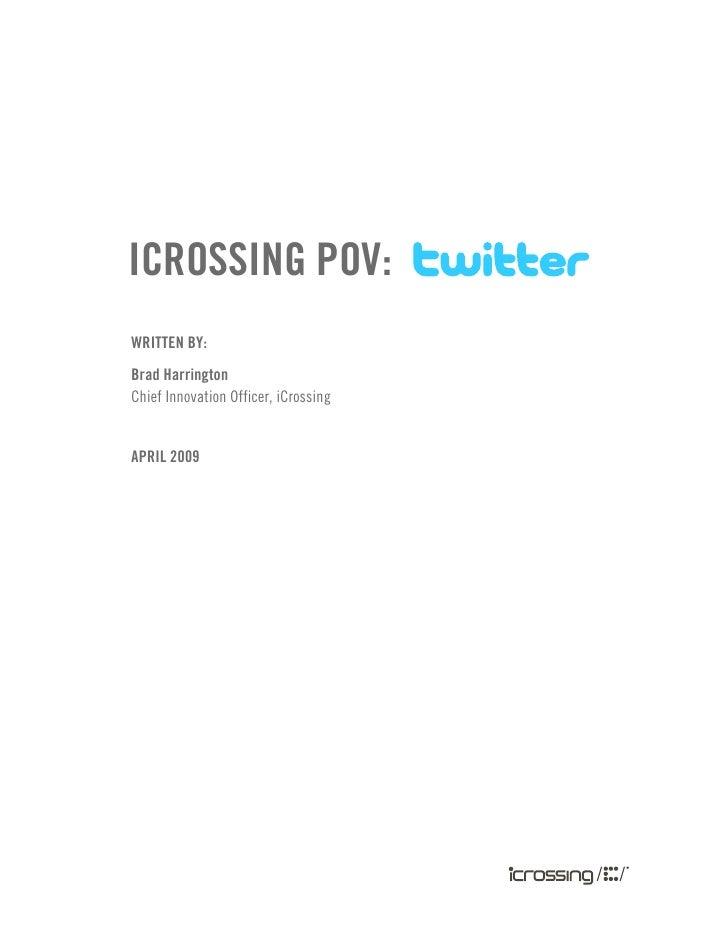 I Crossing Twitter 101 April 09