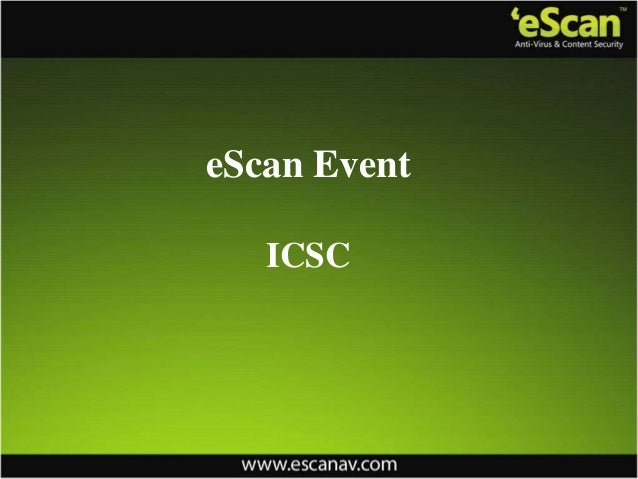 eScan EventICSC