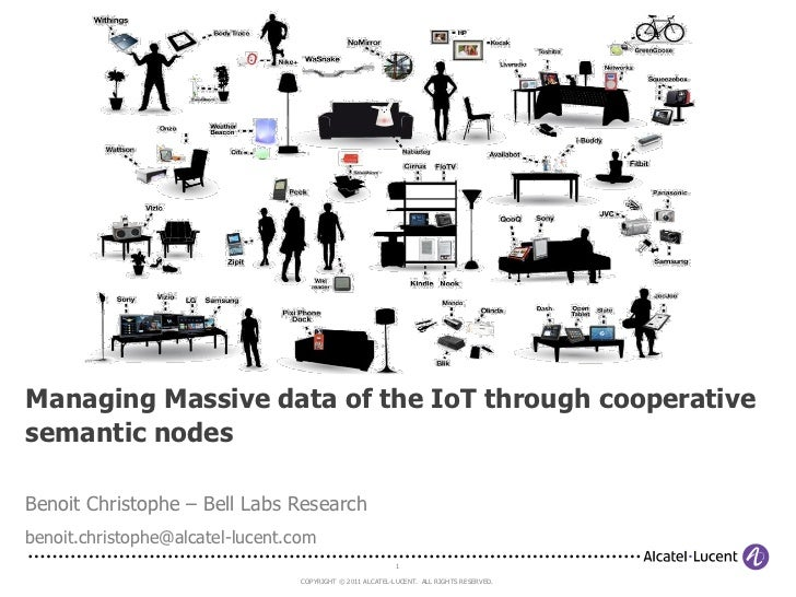 Managing Massive data of the IoT through cooperativesemantic nodesBenoit Christophe – Bell Labs Researchbenoit.christophe@...