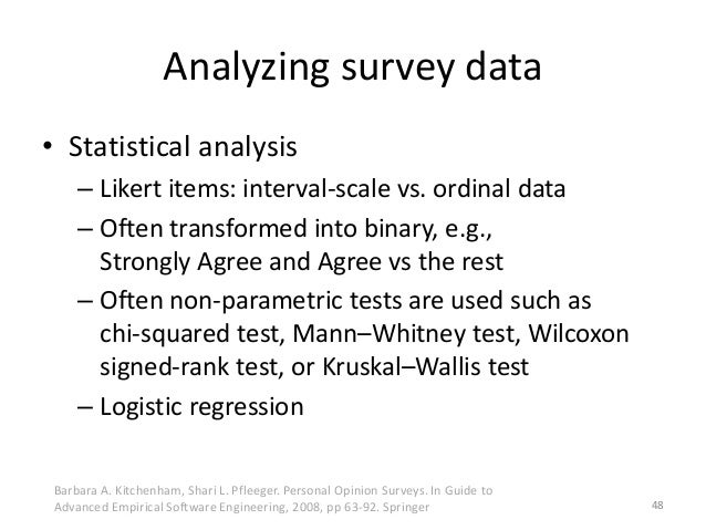 likert scale and regression analysis
