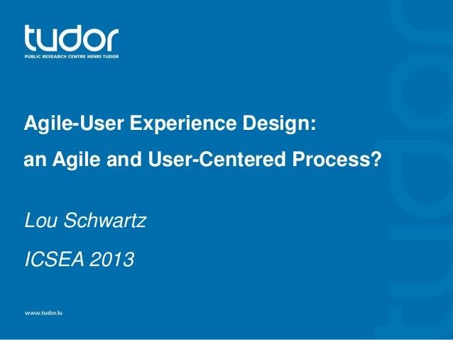 Agile-User Experience Design: an Agile and User-Centered Process? Lou Schwartz ICSEA 2013