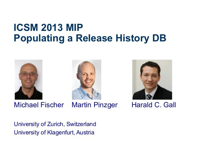 Populating a Release History Database (ICSM 2013 MIP)