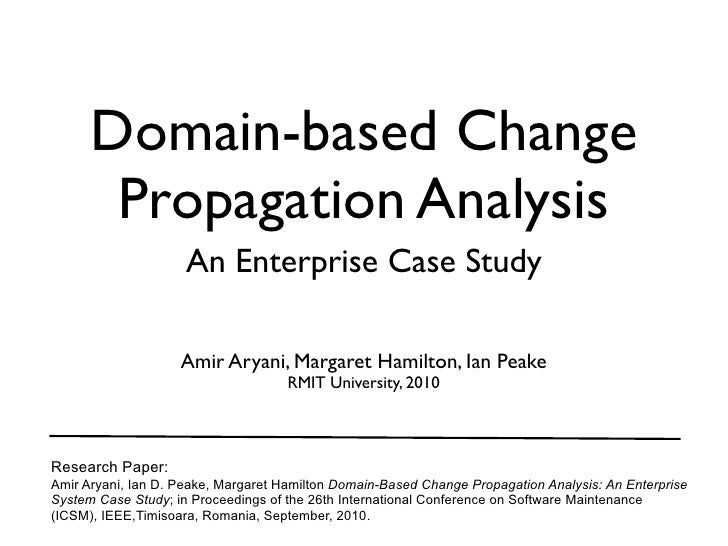 Domain-based Change Propagation Analysis: An Enterprise Case Study