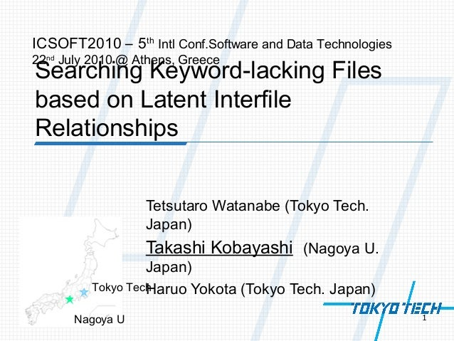 Searching Keyword-lacking Files based on Latent Interfile Relationships