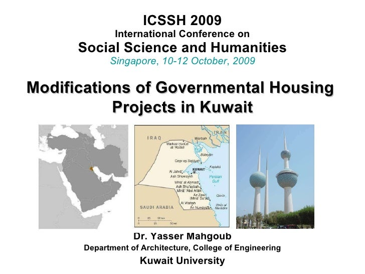 ICSSH 2009 International Conference on Social Science and Humanities Singapore ,  10-12 October ,  2009 Dr. Yasser Mahgoub...