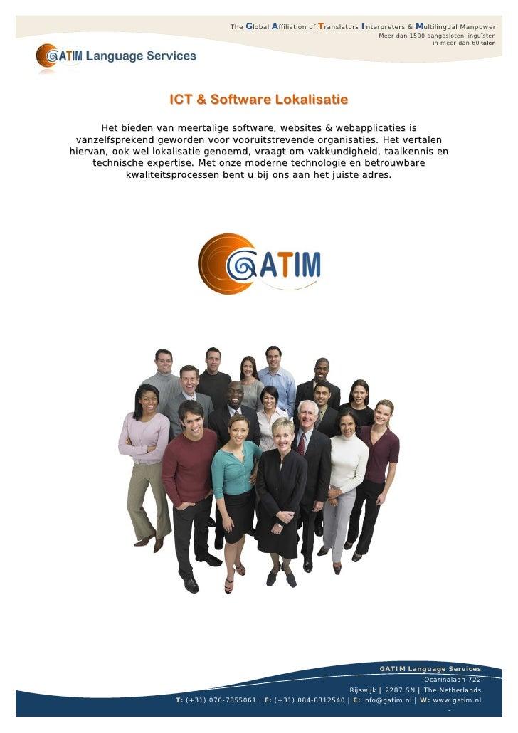 ICT & Software Vertalingen bij GATIM Language Services Vertaalbureau