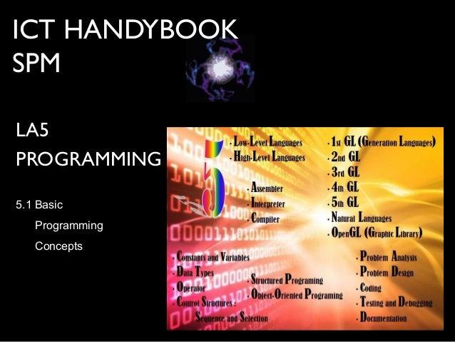 ICT HANDYBOOKSPMLA5PROGRAMMING5.1 BasicProgrammingConcepts
