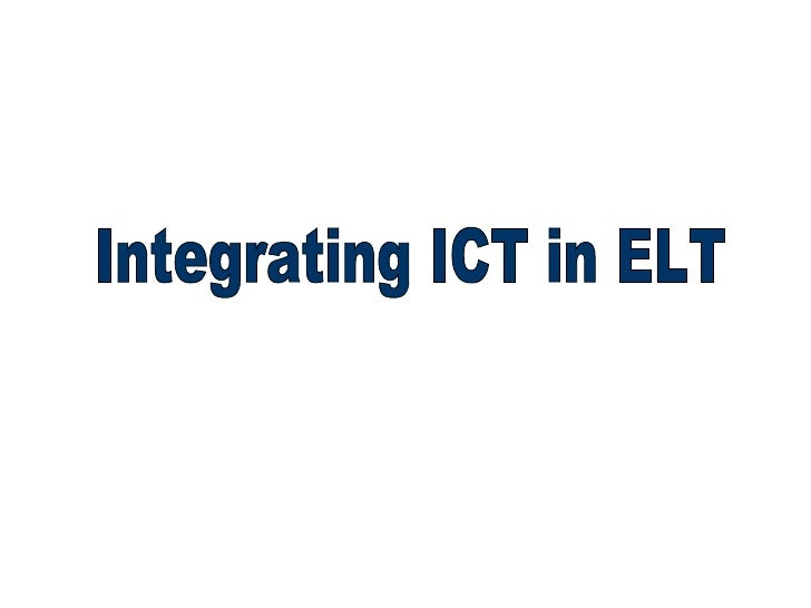 ICT In ELT -  UC