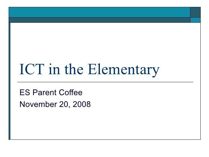 ICT in the Elementary School
