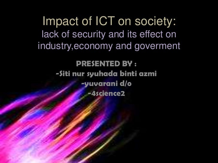 the efect of lack of security on industry,goverment and economy