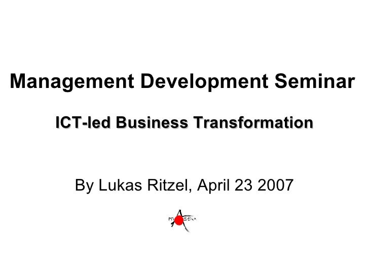 Ict Led Business Transformation