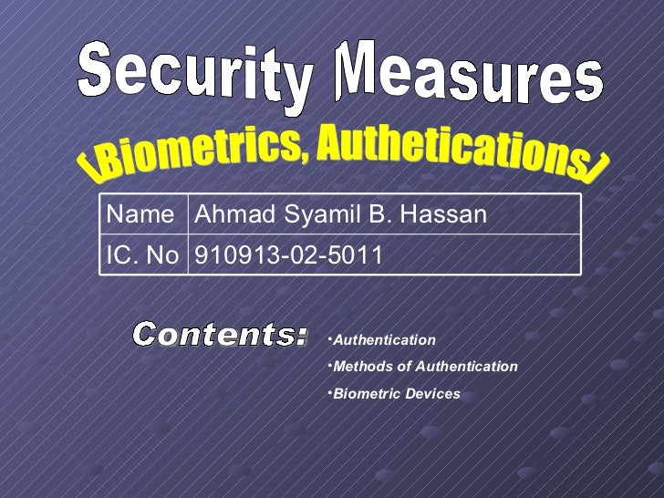 Ict  Security Measures