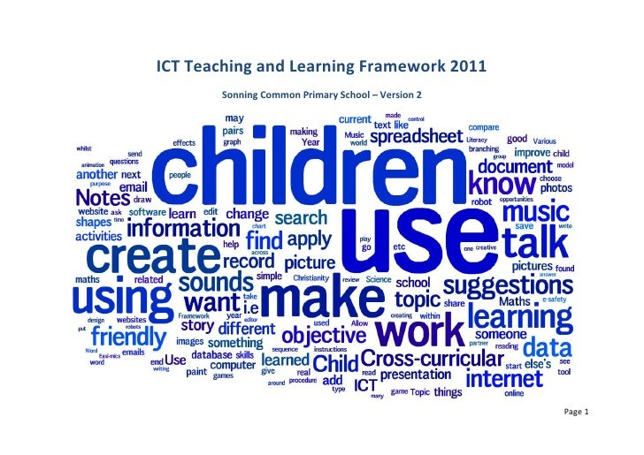 ICT Teaching and Learning Framework 2011<br />Sonning Common Primary School – Version 2<br />Authors<br />Created by Matt ...