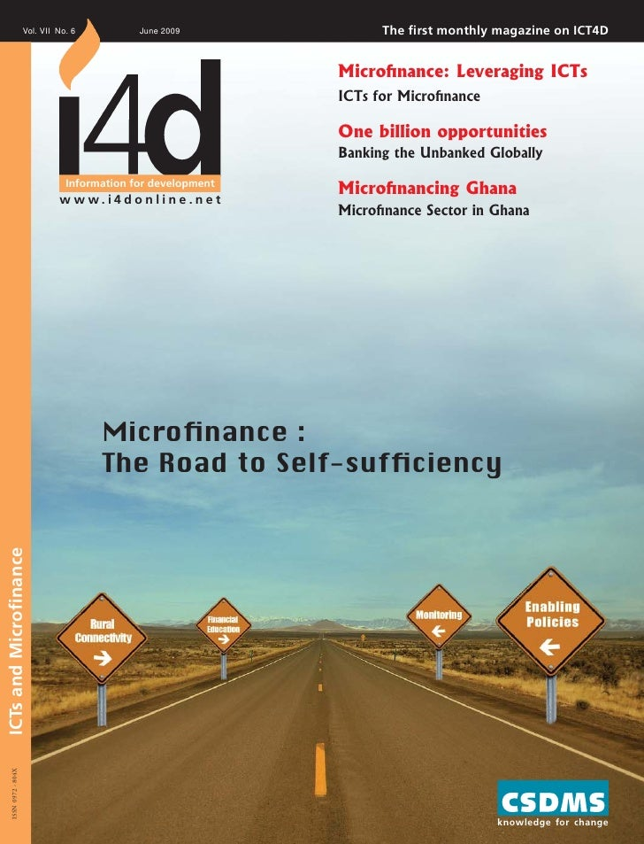 Indiamicrofinance.com I I4D Magazine I June09 Microfinance India