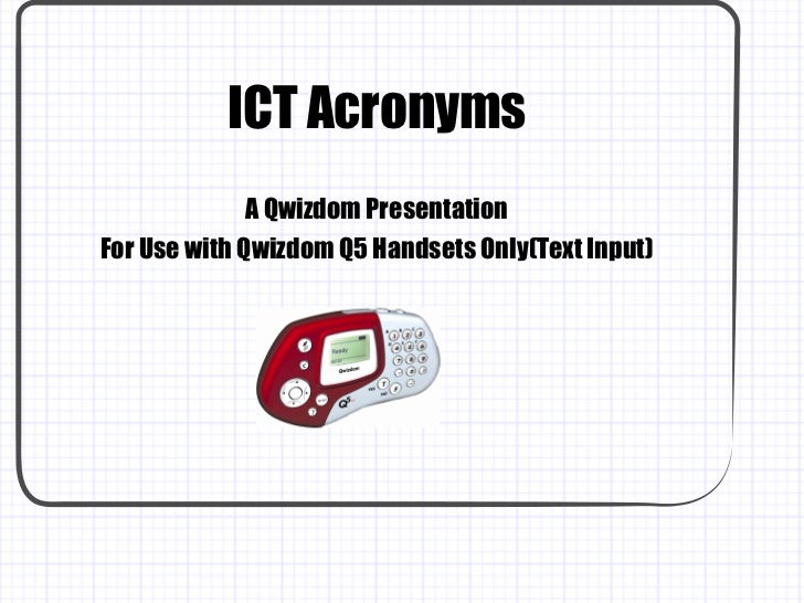 ICT Acronyms Quiz
