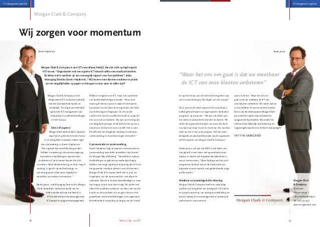 Morgan Clark & Company in the Dutch ICT Advice Top 100 2013