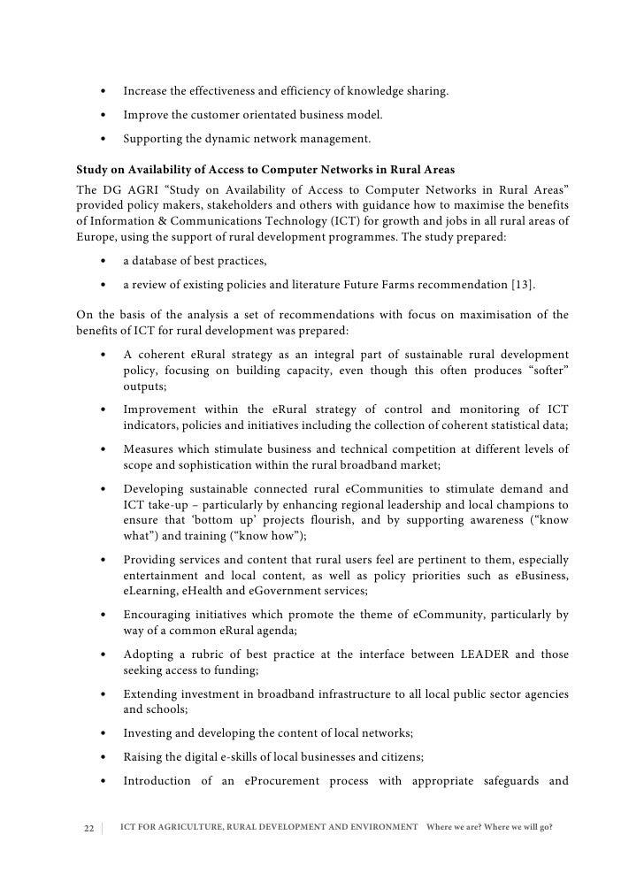 Rural environment essay