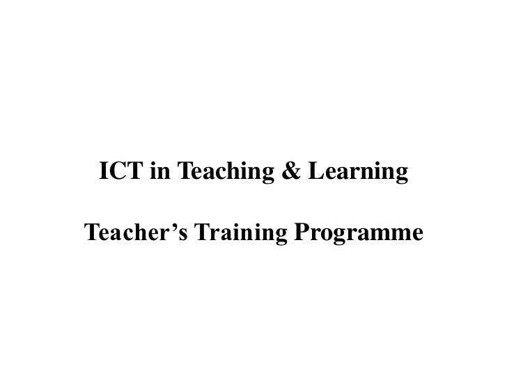 ICT in Teaching & Learning